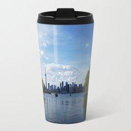 We #LOVE Toronto - Skyline from Toronto Islands, ON, Canada Travel Mug