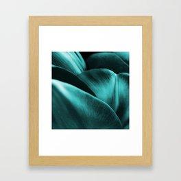 Green Succulent Leaves #decor #society6 #homedecor Framed Art Print