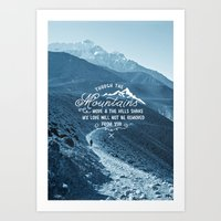 pocketfuel Art Prints featuring NOT SHAKEN by Pocket Fuel