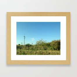 Just a touch of civilization  Framed Art Print