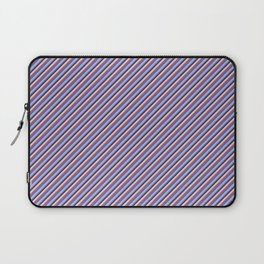 Light Lilac Blue Inclined Stripes Laptop Sleeve
