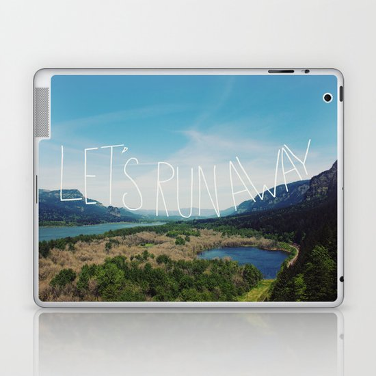 Let's Run Away: Columbia Gorge, Oregon Laptop & iPad Skin
