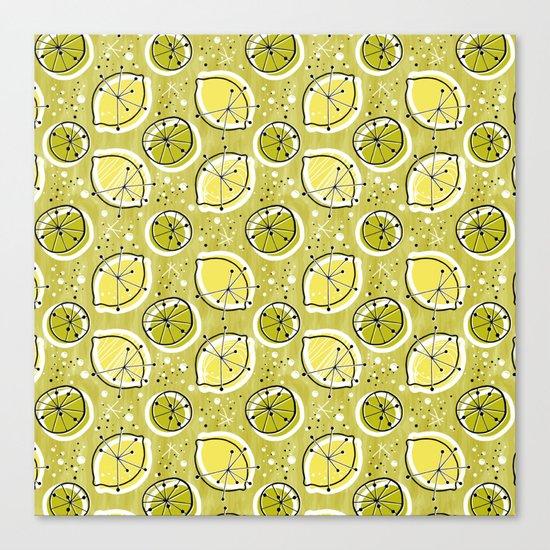 Atomic Lemonade_Green Canvas Print