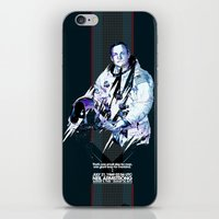 neil gaiman iPhone & iPod Skins featuring Neil Armstrong Tribute by Largetosti