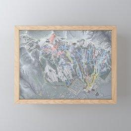Jackson Hole Mountain Resort Trail Map Framed Mini Art Print