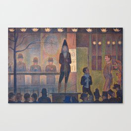 Georges Seurat Parade de Cirque Canvas Print