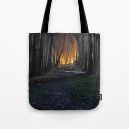 Haunted Forest and Andrew Goldsworthy Sculpture Tote Bag