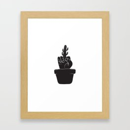 Cactus Finger in the Pot Framed Art Print