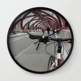 Bike on Peace Bridge Wall Clock