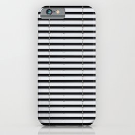 metal shutter background - silver sun blind pattern  iPhone Case