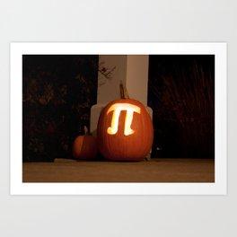 Pumpkin Pi Art Print