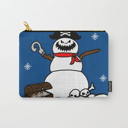 Christmas Pirate Snowman Carry-All Pouch