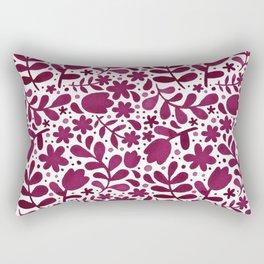 Folk Floral-purple Rectangular Pillow