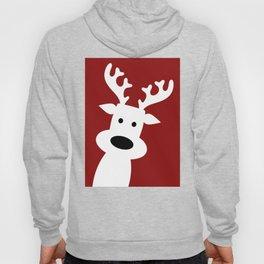 Reindeer on red background Hoody