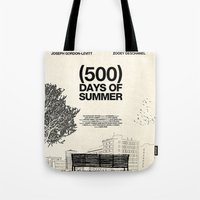 500 days of summer Tote Bags featuring (500) Days of Summer by Martin Lucas