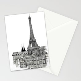 City view of paris Stationery Cards