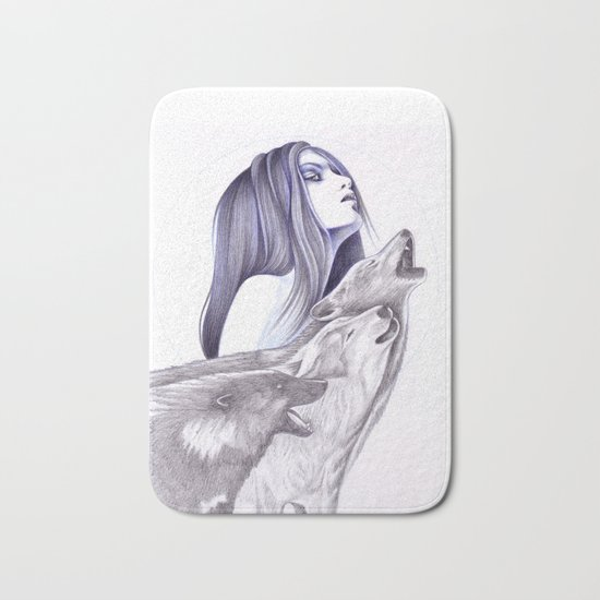 Call Of The Wolves Bath Mat