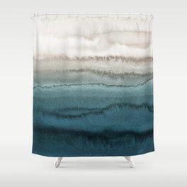 Dark Teal Shower Curtains