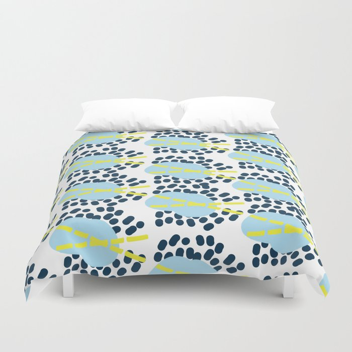 Leila - Abstract pattern, textile design  Duvet Cover