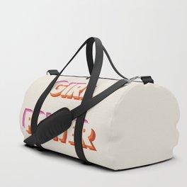 Girl Power // in Orange Pink Beige Duffle Bag
