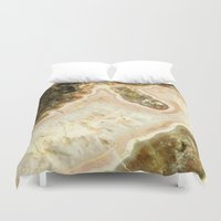 agate Duvet Covers featuring Pink Agate by D. S. Brennan Photography