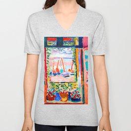 Henri Matisse Open Window Unisex V-Neck