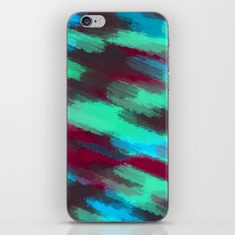 green blue red and brown painting texture abstract background iPhone Skin