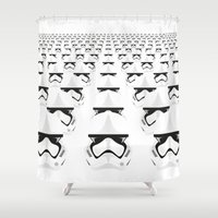 army Shower Curtains featuring Trooper Army by Guimov