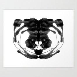 Rorschach Ink Blot Art Art Print