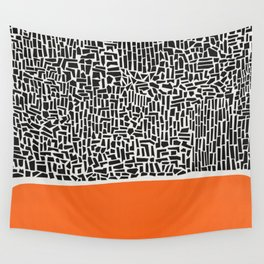 City Sunset Abstract Wall Tapestry