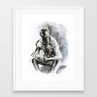 clint eastwood Framed Art Prints featuring Clint Eastwood by onez