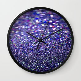 Partytime in Purple Wall Clock