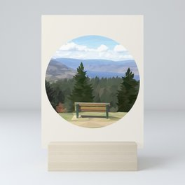 Lake Okanagan, Naramata, British Columbia - Low Poly Digital Art Mini Art Print