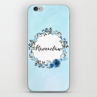 ravenclaw iPhone & iPod Skins featuring HP Ravenclaw in Watercolor  by Snazzy Sisters