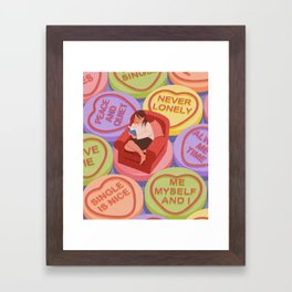 love being alone Framed Art Print