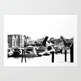 Weymouth Bridge and Harbour, Dorset Art Print