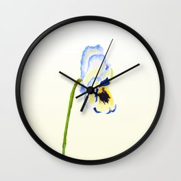 one  pansy Wall Clock