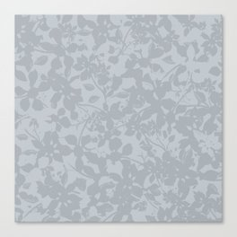 Broken but Flourishing Floral Pattern - Grey Canvas Print
