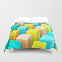 Color Blocking Pastels Duvet Cover