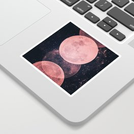 Pink Moon Phases Sticker