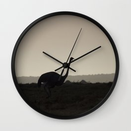 Dawn of The Ostrich Wall Clock