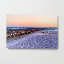 Jetty at Sunset Metal Print