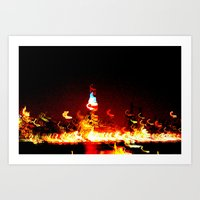 manhattan Art Prints featuring Manhattan by Rochana Dubey