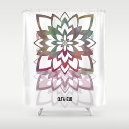 Psychedelic Lotus by Fly-er Prints  Shower Curtain