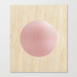 Rosegold moon Canvas Print