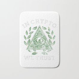 In Crypto We Trust Bitcoin Cryptocurrency Distressed Bath Mat