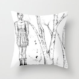 stipples Throw Pillow