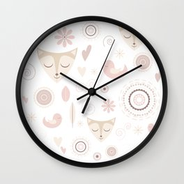 Cute kitty pattern Wall Clock