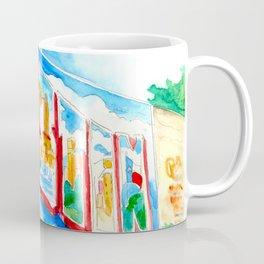Greetings From Austin Mural watercolor Coffee Mug