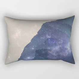 Lost in Space - Mountains with mist and stars Rectangular Pillow